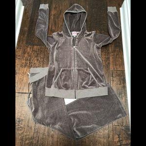 Juicy Couture velour jump suit, 2 piece set